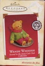 Hallmark Ornament 2002 Wendy Whoosh 2nd in Snow Cub Club Collection - $4.95