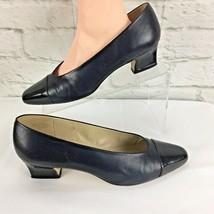 Etienne Aigner shoes pumps Ann Marie Womens 9.5 M Navy Blue Patent Leath... - $27.82