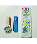 ANA Pokemon Jet Dressing Band Sports Watch Pikachu Rare   - $59.84