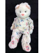 """Happiness Express Club White Teddy Bear Plush 90's Snoozems Pajamas 18""""  - $193.32"""