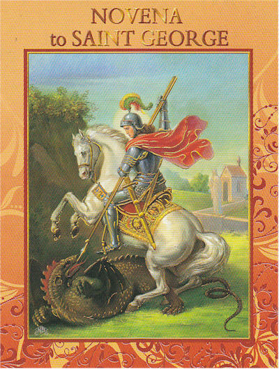 Primary image for Novena to Saint George 12 Pages with Illustrations - EB292 - Cromo Printed Italy