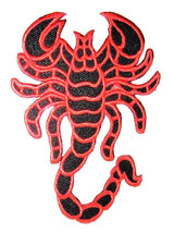 """Red Scorpion Motorcycle Patch Pattern 11"""" XXL Embroidered Applique Milit... - $16.83"""