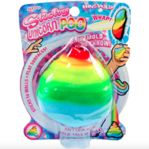 HogWild Sticky Rainbow/Multi-Color Unicorn Poo With Soft Skin & Mold-Abl... - $9.85