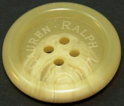 "Org Ralph Lauren plastic Husk white blend logo Replacement front button .90"" - $3.91"