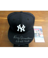 BOBBY RICHARDSON 1960 WS MVP 1961 WSC YANKEES AUTO BASEBALL NEW ERA CAP ... - $148.49