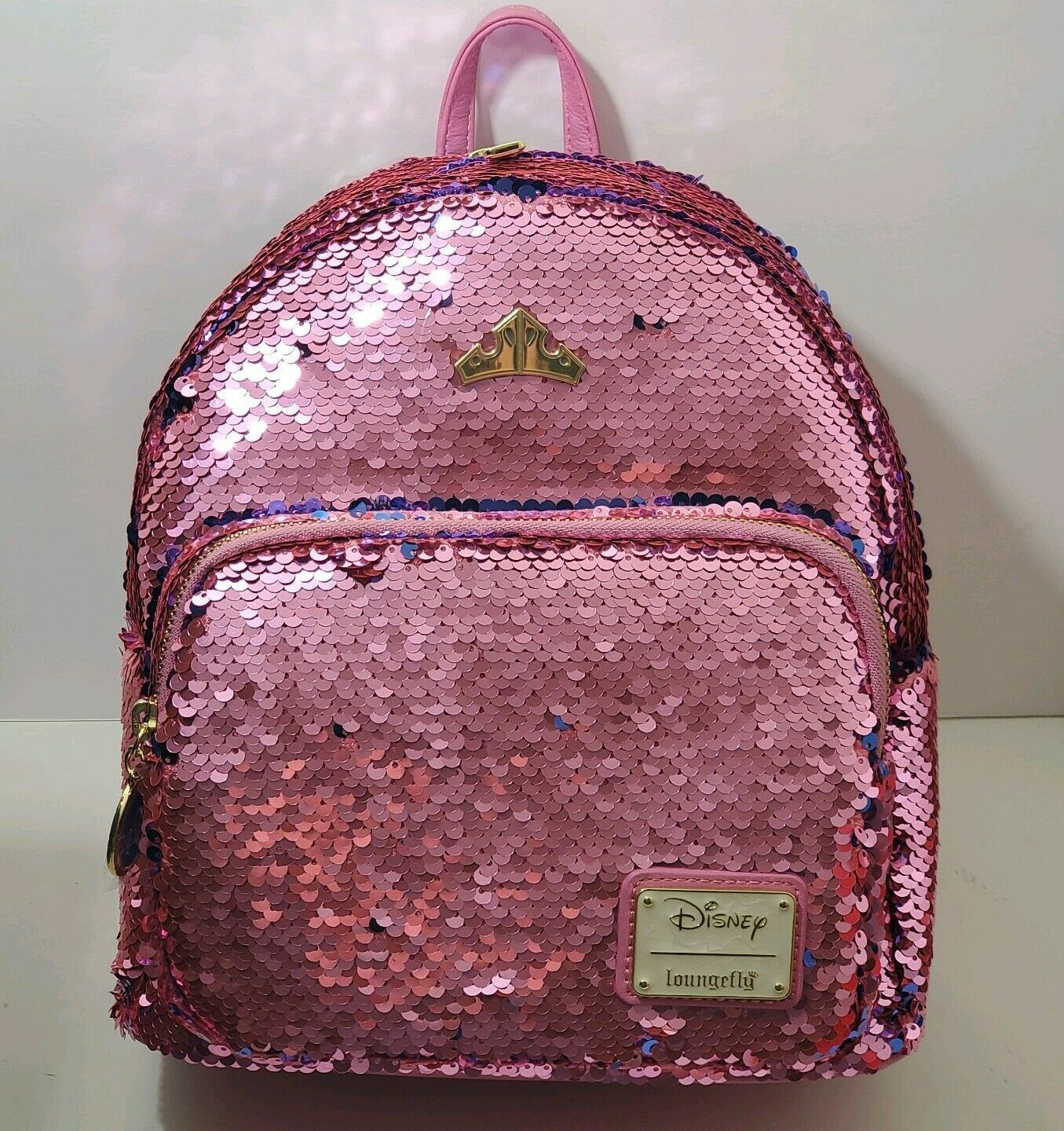 Primary image for Disney Aurora Sleeping Beauty Loungefly Mini Backpack Sequence Pink Blue