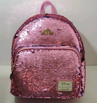 Disney Aurora Sleeping Beauty Loungefly Mini Backpack Sequence Pink Blue - $94.99