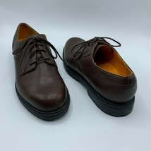 Timberland Mens Sz 10 Casual Shoes Brown Waterproof Leather Lace Up Oxford - $26.99