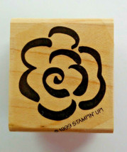 Stampin Up Brushstroke Blossoms Stamp Set of 4 Flowers 1999 - $12.19