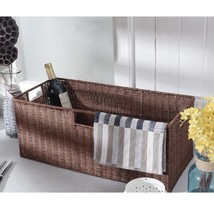 3 pcs Nesting Rectangular Cube Rattan Storage Baskets - £49.77 GBP