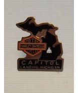 HARLEY DAVIDSON CYCLE OWNER'S GROUP HOG VEST / HAT PIN, Capitol Lansing ... - $6.15