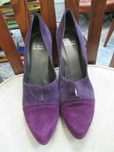 Stuart Weitzman suede purple two-toned shoes size 10M - $37.36