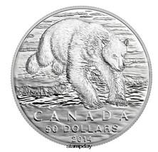 CANADA 2014 $50 PROOF SILVER COIN POLAR BEAR 16629-A20 - $74.25