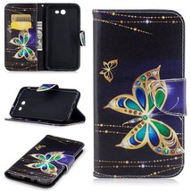 XYX Wallet Phone Case for Galaxy J7 2017,[Big Butterfly][Kickstand] Pain... - $9.88