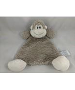 "Nat & Jules Monkey Rattle Lovey Security Blanket 12"" Stuffed Animal toy - $7.95"