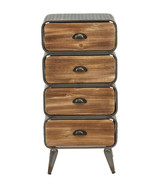 4D Concepts Home Indoor Decorative Urban Loft 4 Rounded Drawer Chest - $193.03