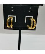 Monet Gold Tone Half Loop Earrings - $15.83