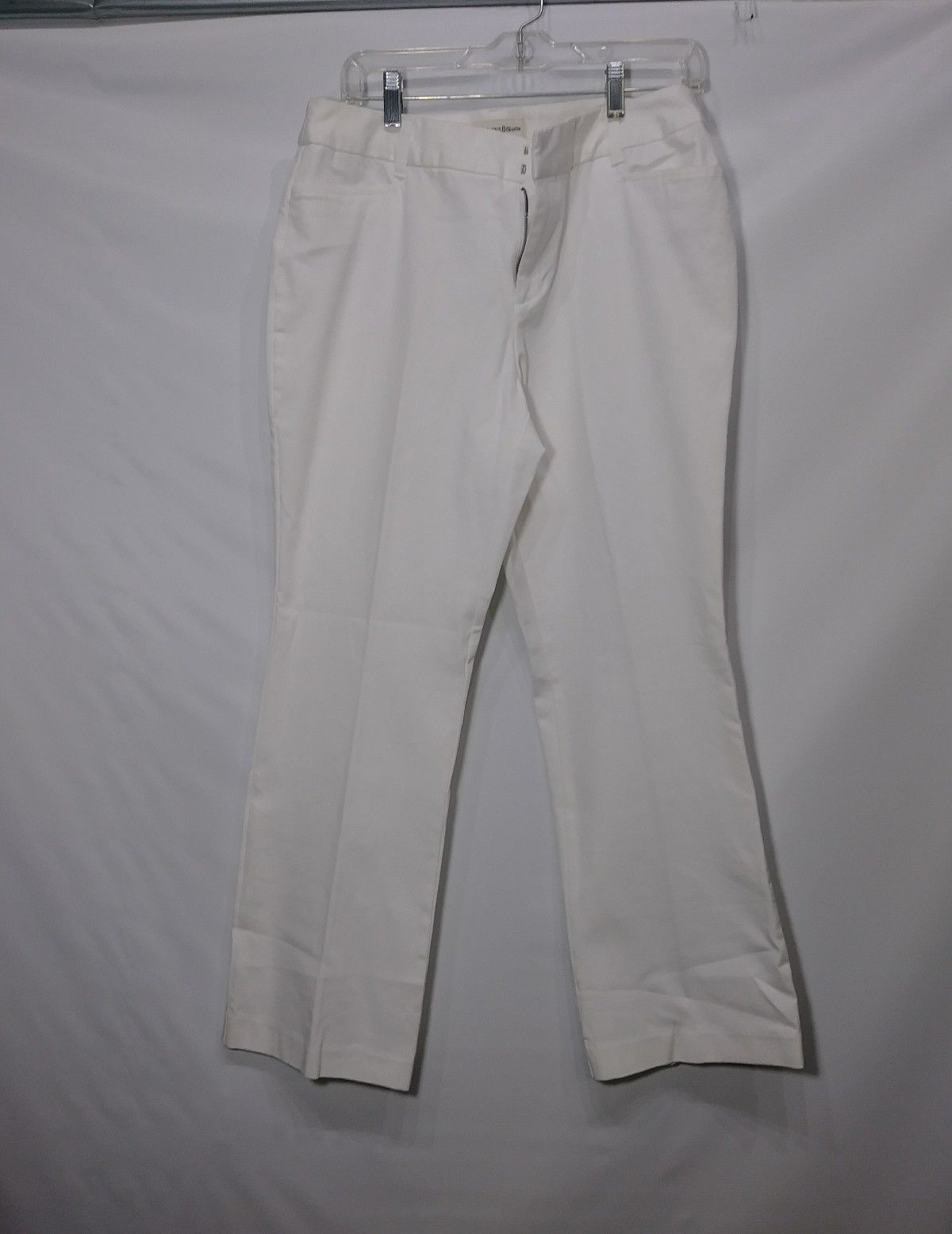 ST. JOHN'S BAY PETITE STRETCH PANTS WHITE SIZE 14P COTTON BLEND RN 93677 BAHRAIN