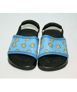 Carters Baby Crib Shoes Duck Sandals Beach Pool Unisex Size 2 Elastic St... - $16.42