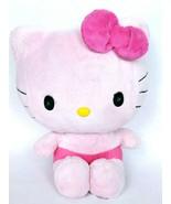 """Hello Kitty Jakks Pacific Sanrio Pink Cat Plush Stuffed Animal 2010 10"""" - $17.69"""