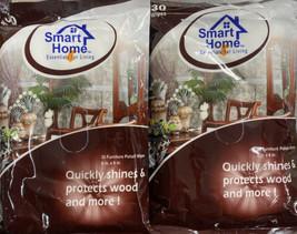 "2X Smart Home Furniture Polish Wipes - 30 wipes 6x8"" - Shines Protects Wood - $11.19"