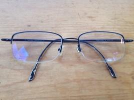 Clavin Klein Collection 53 19 145 Half Rimless Black Metal Eyeglasses Fr... - $19.99