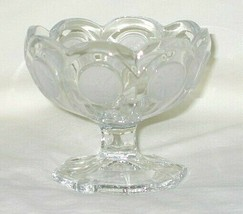 Fostoria Coin Glass Pattern Jelly/Jam Footed Dish - $9.85