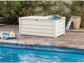 Keter Brightwood Outdoor Plastic Deck Box, All-Weather Resin Storage, 12... - $256.52