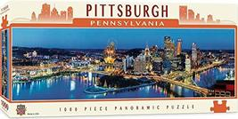 MasterPieces Cityscapes Panoramic Jigsaw Puzzle, Downtown Pittsburgh, Pennsylvan - $17.99