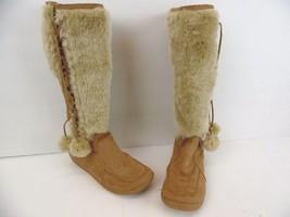 Women's Soda Faux Suede Boots, Tan, With Faux Fur, Gum bottoms - $23.33