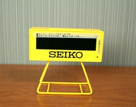 SEIKO Japan Digital Alarm Stopwatch Timer Yellow Clock SQ815Y - $107.80