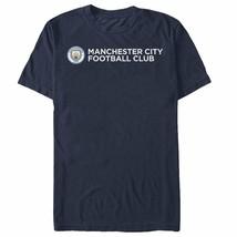 Manchester City Football Club Horizontal Text Logo Mens Graphic T Shirt - $10.99