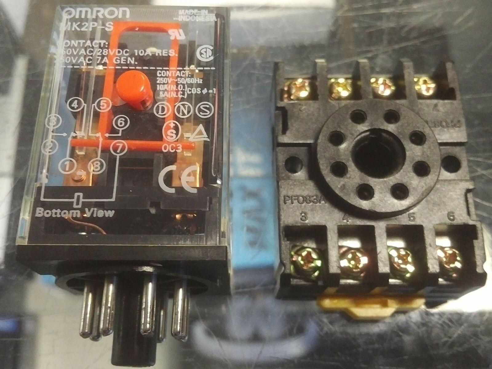 OMRON MK2P-S Relay and Socket Base (2-M4X20) NEW 24VDC