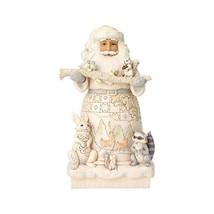 Enesco Jim Shore Heartwood Creek White Woodland Santa Statue - $155.06