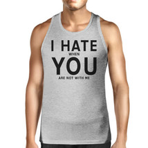I Hate You Mens Cotton Tank Top Funny Graphic Tanks Cute Typography - $14.99