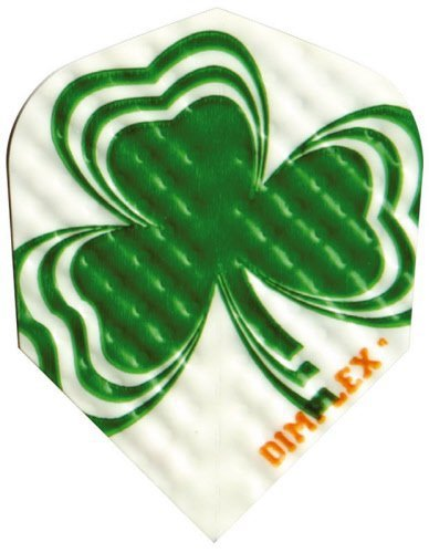 3 Sets of 3 Dart Flights - 4198 - Dimplex Irish Lucky Clover Shamrock Standar...
