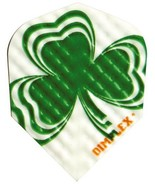 3 Sets of 3 Dart Flights - 4198 - Dimplex Irish Lucky Clover Shamrock Standar... - $4.37