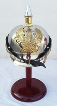 WW I&II German Prussian Steel Brass Pickelhaube Helmet With FR Badge Military - $98.01