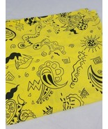 Vintage Mark Fabrics yellow fabric for sewing quilting scrapbooking - $19.21