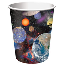 Space Blast  8 9 Oz Paper Hot Cold Cups Rocket Birthday Party - $4.29