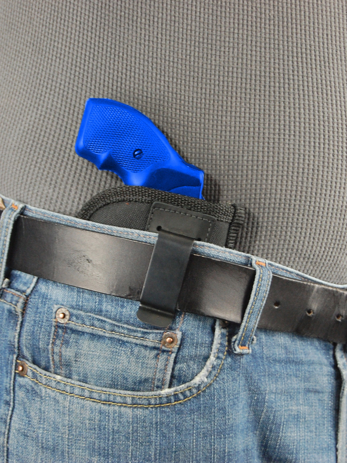 """Barsony IWB Gun Concealment Holster for Charter Arms 2"""" Snub Nose Revolvers"""