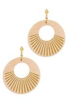 Fashion Wooden Circle Drop Earring - $8.10
