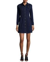 new BURBERRY BRIT PIPPI Stretch Denim Button Front Shirt Dress in DARK I... - £220.67 GBP