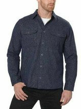 Freedom Foundry Men's Long Sleeve Navy Heather Flannel Button Up Shirt - L image 1
