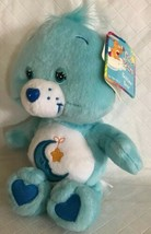 Care Bear Bedtime Bear 8 Inch Bean Bag Plush Light Blue Toy 2002 Moon St... - $24.74