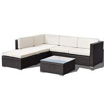 Hulaloveshop 4 pcs Patio Rattan Cushioned Furniture Set - $844.42