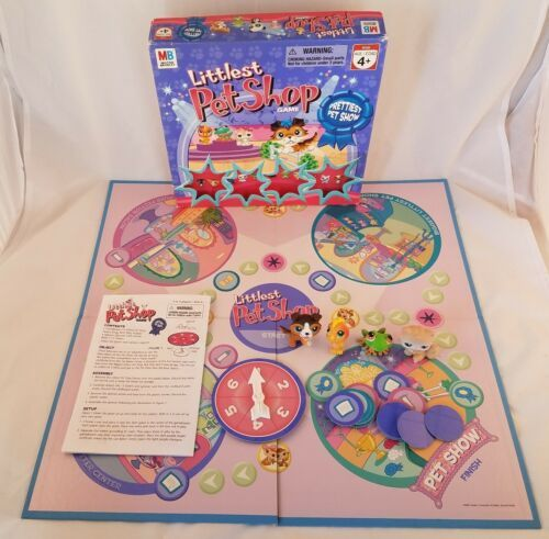Primary image for Hasbro Littlest Pet Shop Prettiest Pet Show Board Game Complete Four Pets 2007