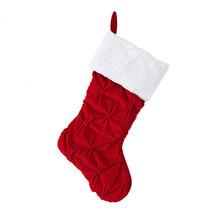 Darice Velvet Christmas Stocking: Red/White, 19 inches w - $14.99