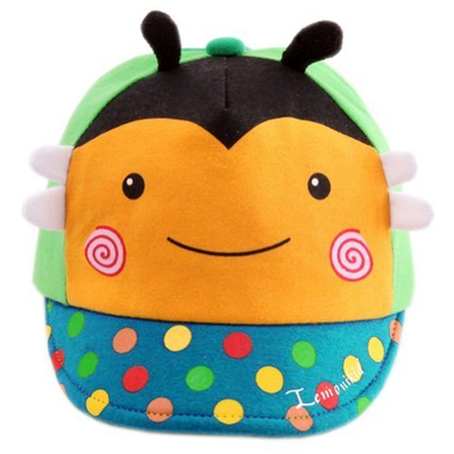 Infant Sun Protection Hat Baby Beaked Cap Toddler Floppy Cap Cute Bee Yellow