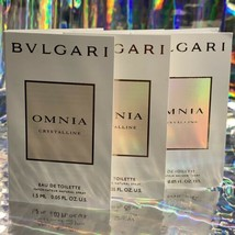 3x Bvlgari Bulgari Omnia EDT 1.5mL Each NEW IN ORIGINAL CARD